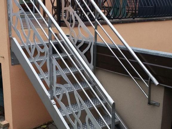 escalier inox sur mesure