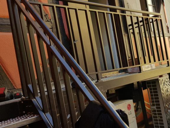 rambarde escalier tole noire