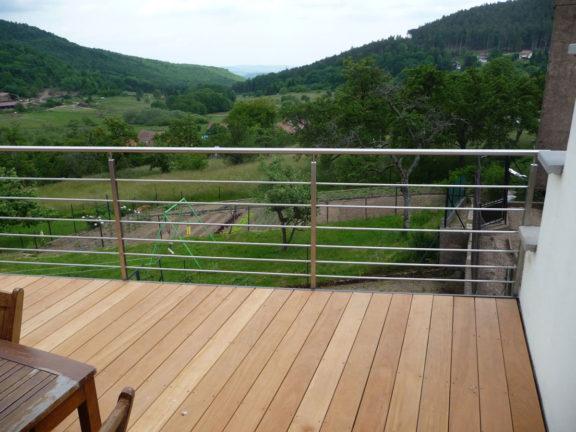 rembarde inox terrasse sur-mesure